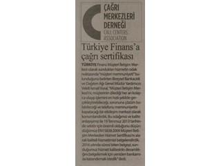 Türkiye Finans'a Çağrı Sertifikası