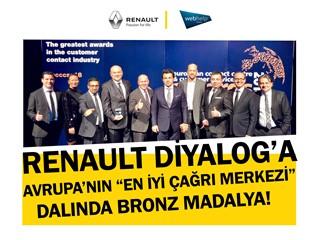 Renault Diyalog'a Avrupa'nın En İyi Çağrı Merkezi Dalında Bronz Madalya