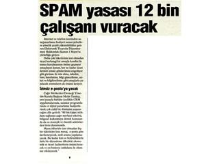 Spam yasası 12 bin çalışanı vuracak