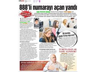 888'li numarayı açan yandı