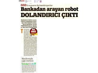 Bankadan arayan robot dolandırıcı çıktı