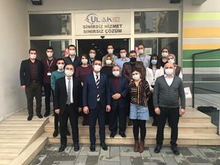 Ulaknet Çağrı Merkezi'ne Halkbank'tan Ziyaret