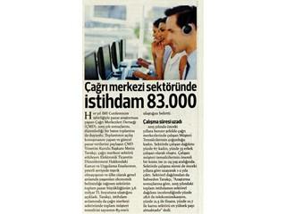 Çağrı merkezi sektöründe istihdam 83.000