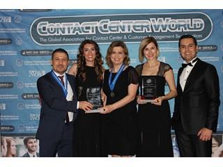 Turkcell Global Bilgi ContactCenterWorld.com'dan  iki birincilikle döndü