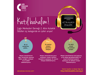 Çağrı Merkezleri Derneği 2. Altın Kulaklık Ödüllerine Başvurular Sürüyor