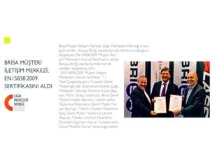 Brisa Müşteri Hizmetleri EN15838:2009 sertifikasını aldı
