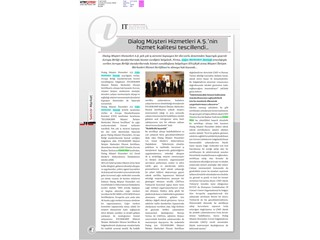 Dialog Müşteri Hizmetleri A.Ş.'nin hizmet kalitesi tescillendi