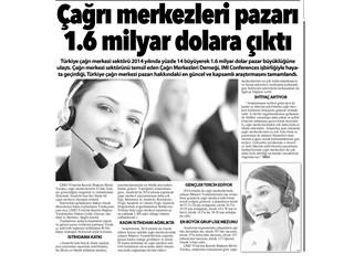 Çağrı merkezi payı 1.6 milyar USD'ye çıktı