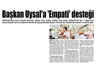 Başkan Uysal'a Empati Desteği