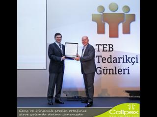 Callpex, TEB Tedarikçi Günleri'nde ödül aldı.
