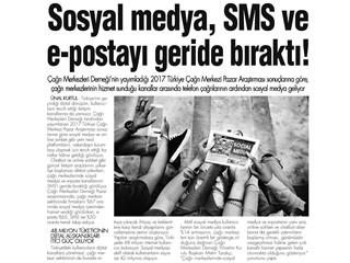 Sosyal Medya, SMS ve e- postayı Geride Bıraktı