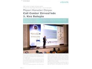 Call Center Zirve'sinde 3. kez buluştu