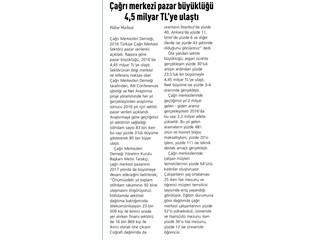 Çağrı Merkezi Pazar Büyüklüğü 4,45 Milyar TL'ye Ulaştı